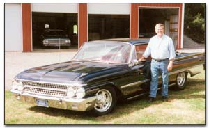 "Stan ""The Ford Man"" Karasinski and his 1961 Galaxie Starliner"